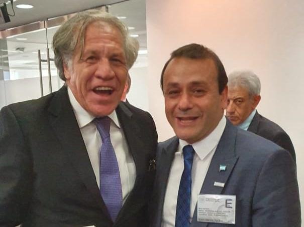 HERRERA AHUAD SE REUNIÓ CON EL SECRETARIO GENERAL DE LA OEA Y LO INVITÓ A MISIONES