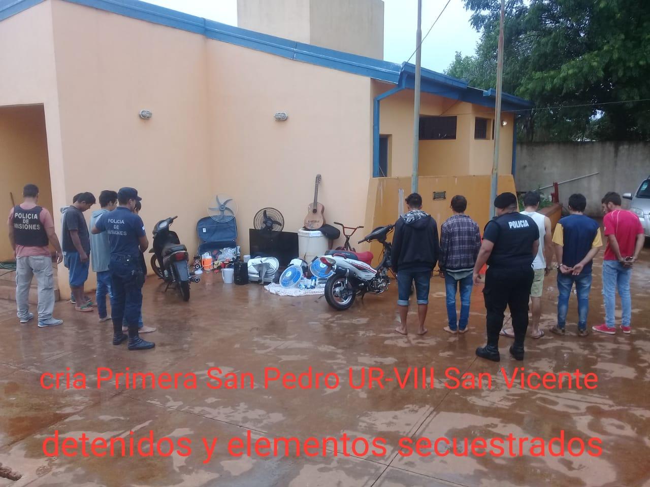 SAN PEDRO: LA POLICÍA REALIZÓ UN MEGA OPERATIVO CON ESCLARECIMIENTO DE DELITOS