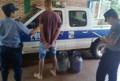 TERCIADOS PARAÍSO:  «PORTEÑO» FUE DETENIDO POR ROBAR GARRAFAS DEL CAPS