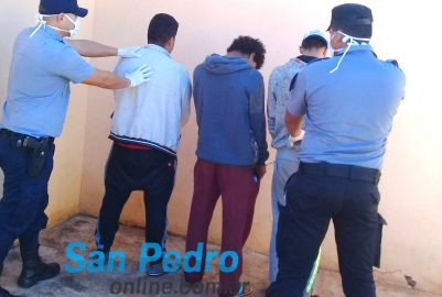 SAN PEDRO: 3 DETENIDOS Y EXTRANJEROS PUESTOS EN AISLAMIENTO