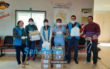 SAN PEDRO: DOCENTES ENTREGARON ELEMENTOS SANITARIOS AL HOSPITAL E INSTITUCIONES