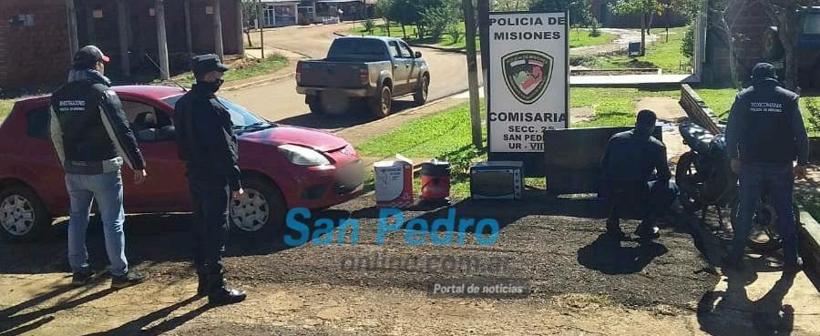 COLONIA FORTALEZA: LA POLICÍA RECUPERÓ UN AUTO Y ELECTRODOMÉSTICOS ROBADOS
