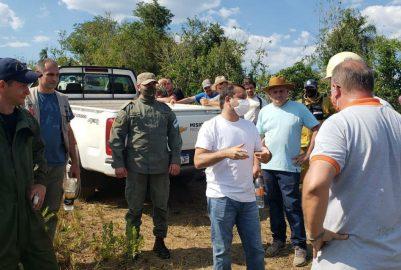 HERRERA AHUAD SUPERVISÓ LA LUCHA CONTRA EL FUEGO EN LA RESERVA YABOTI
